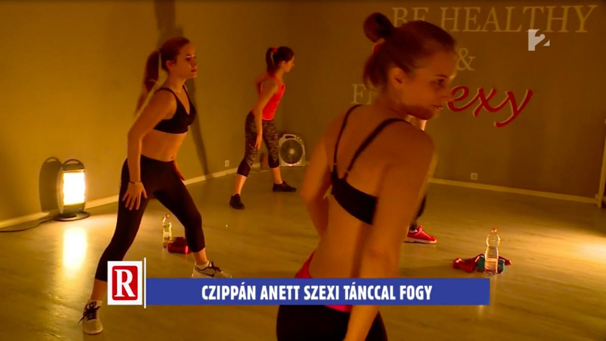 TV2 Ripost - Czippán Anett műsorvezető részt vett egy Beautyrobic órámon